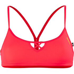 arena Be Bandeau top Donna, fluo red-yellow star